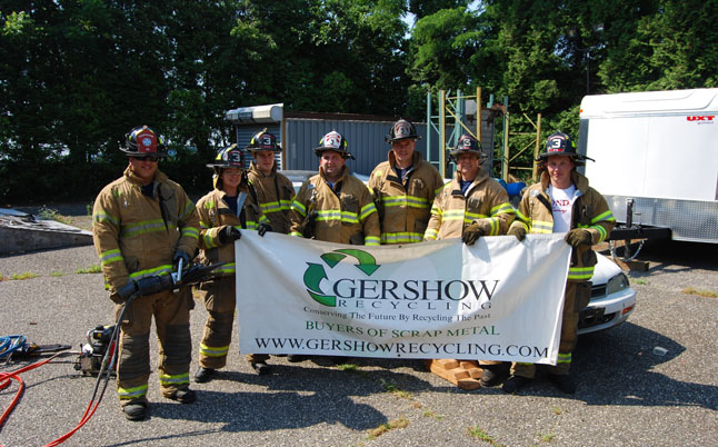 Gershow Recycling Donates Two Vehicles to Hauppauge Fire Department for Extrication Exercise