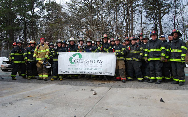 Gershow Recycling Donates 10 Vehicles to Centereach Fire Department for Multi-Departmental Extrication Training Class