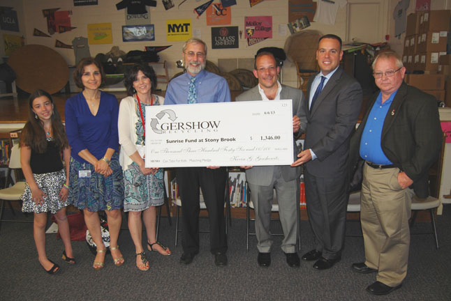 Gershow Recycling's Can Tabs for Kids Program Raises $1,346 for Sunrise Fund at Stony Brook
