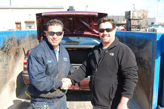 Gershow Recycling Donates Car to Great River F.D. for Extrication Training Exercise