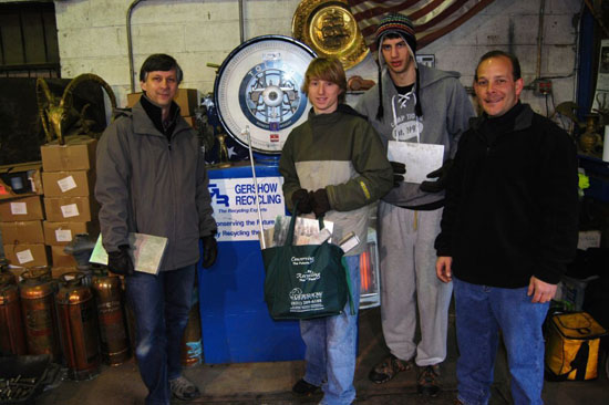 Gershow Recycling Donates Aluminum Scrap to  Robotics Teams