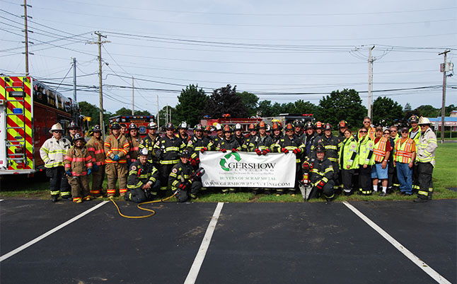 Gershow Recycling Corp. Donates 20 Vehicles to Suffolk County Fire Academy for Training Classes