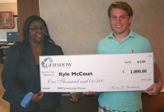 Gershow Recycling Grants Scholarship to South Country Student