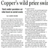 Copper's Wild Price Swings Test Recyclers' Mettle