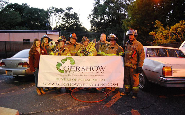 Gershow Recycling Donates Two Vehicles to Sound Beach Fire Department for Extrication Exercise