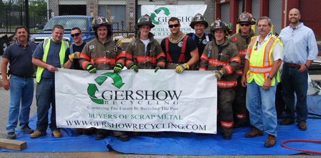Gershow Recycling Donates Vehicle for Extrication Demonstration at Bayport-Blue Point High School
