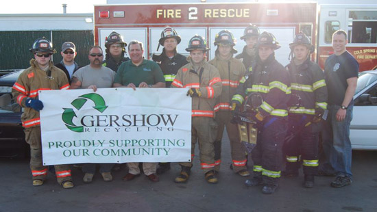 Gershow Recycling Hosts Cold Spring Harbor FD at Huntington Station Facility for Extrication Exercise