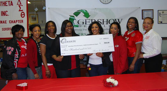 Gershow Recycling Donates $500 to Delta Sigma Theta Sorority, Inc. for Purchase of Pedometers for Health & Foster Care Expo