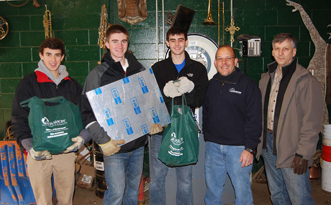 Gershow Recycling Donates Aluminum Scrap to Hauppauge Robotics Team