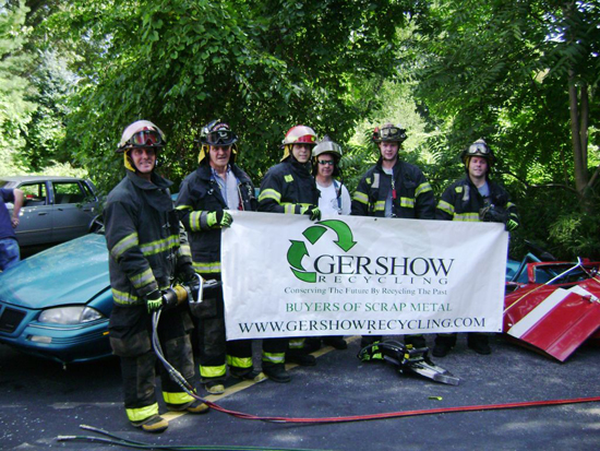 Gershow Recycling Donates Two Vehicles to Eaton's Neck Fire Department For Extrication Exercise