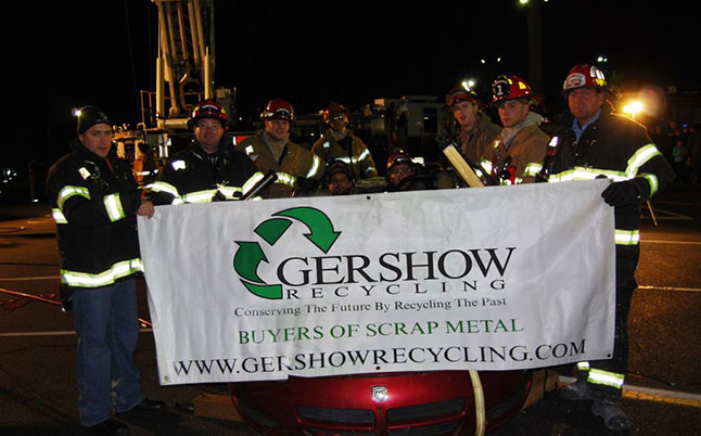 Gershow Recycling Donates Three Vehicles for Extrication Exercise at Farmingville Fire Department's Fire Prevention Open House