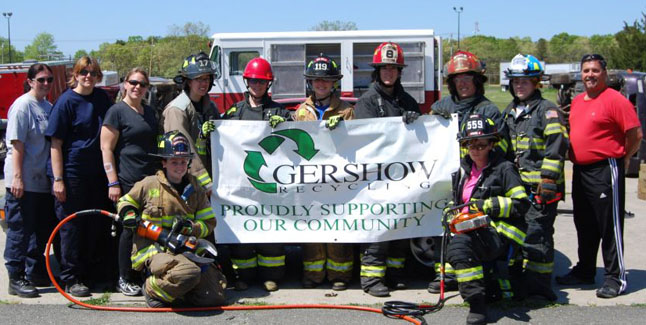 Gershow Recycling Donates Five Vehicles for Extrication Class at Fire Women of Long Island Conference