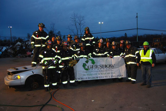 Gershow Recycling Hosts Greenlawn Fire Department's Extrication Exercise at Its Huntington Station Facility