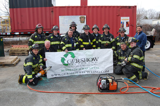 Gershow Recycling Donates Two Vehicles to Holbrook FD for Extrication Exercise