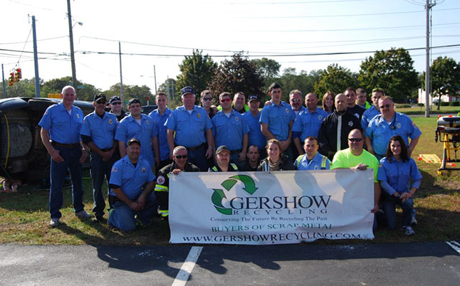 Gershow Recycling Donates Two Vehicles for Extrication Exercise at Holtsville Fire Department's Fire Prevention Open House