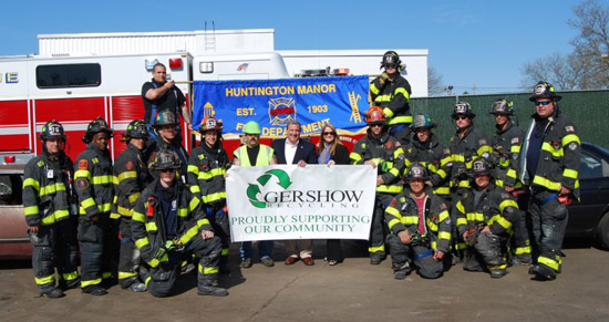 Gershow Recycling Hosts Huntington Manor FD at Huntington Station Facility for Extrication Exercise
