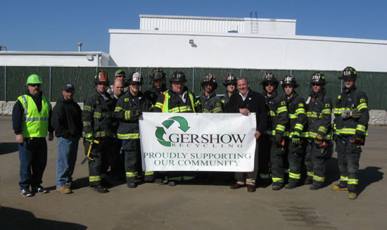 Gershow Recycling Hosts Huntington Fire Department's Extrication Exercise at Its Huntington Station Facility