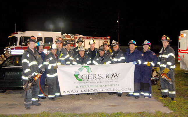 Gershow Recycling Donates Two Vehicles to Lakeland Fire Department for Extrication Exercise