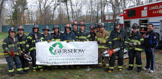 Gershow Recycling Donates Two Vehicles to Lakeland FD for Extrication Exercise