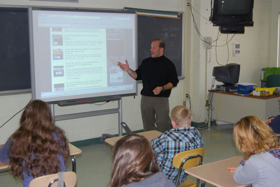 Gershow Recycling's Jonathan Abrams Speaks to Pre-Vocational Students at Longwood High School