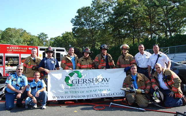 Gershow Recycling Donates Two Vehicles for Extrication Exercise at Manorville Fire Department's Fire Prevention Open House