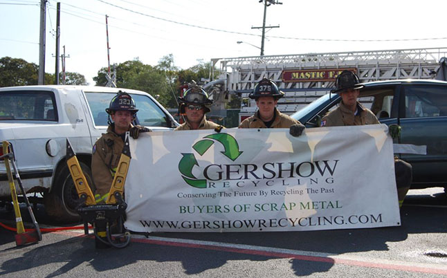 Gershow Recycling Donates Two Vehicles for Extrication Exercise at Mastic Fire Department's Fire Prevention Open House
