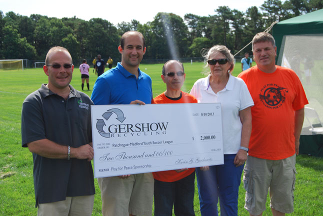 Gershow Donates $2,000 for Play for Peace Soccer Tournament