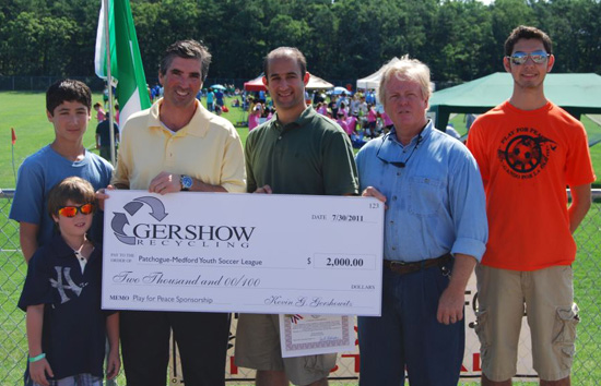 Gershow Recycling Donates $2,000 for Play for Peace Soccer Tournament