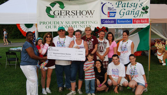 Gershow Recycling Donates $2,000 to American Cancer Society at Sayville Relay For Life