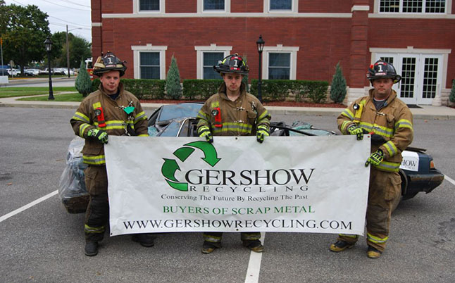 Gershow Recycling Donates Two Vehicles for Extrication Exercise at Riverhead Fire Department's Fire Prevention Open House