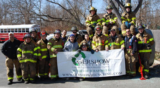 Gershow Recycling Donates Vehicle to Sayville Fire Department for Extrication Exercise