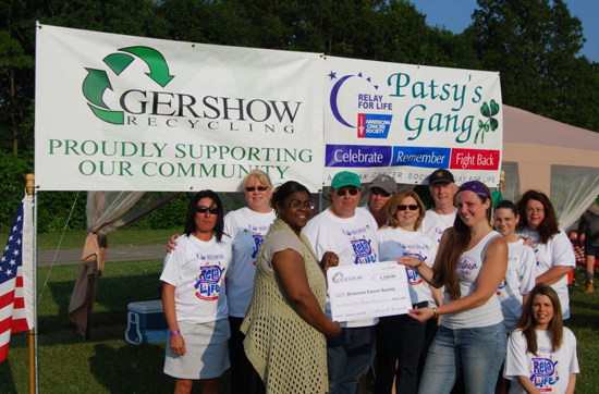 Gershow Recycling Donates $1,250 to  American Cancer Society at Sayville Relay For Life