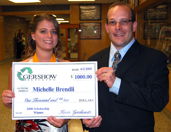Gershow Recycling Grants Scholarships to Patchogue-Medford Students