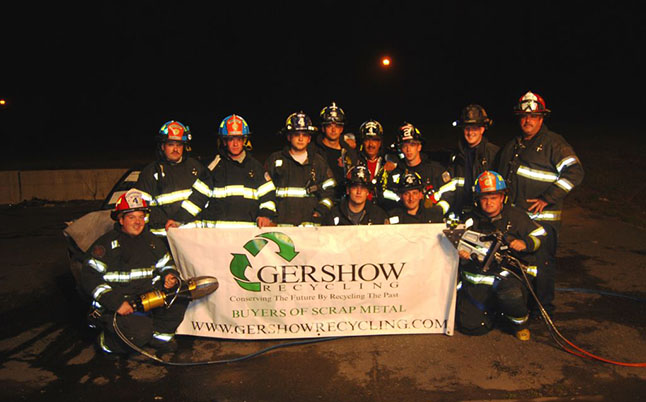 Gershow Recycling Donates Two Vehicles to Selden Fire Department for Extrication Exercise