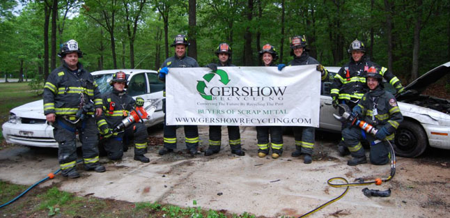 Gershow Recycling Donates Two Vehicles to Setauket FD for Extrication Exercise