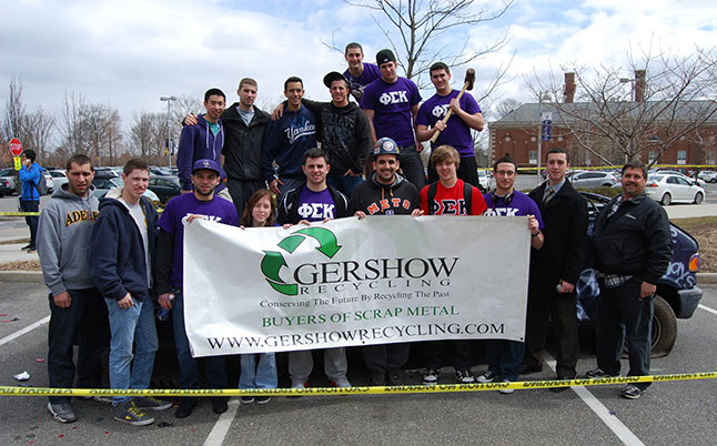 Gershow Recycling Donates Vehicle for Phi Sigma Kappa's Smash a Car Event at Adelphi University