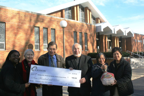 Gershow Recycling Donates $900 to St. Francis Church's Society of St. Vincent de Paul