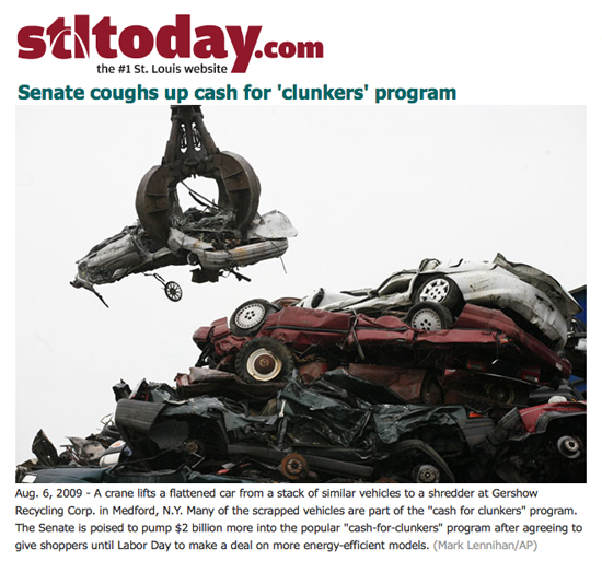 """Cash for Clunkers"" Coverage"