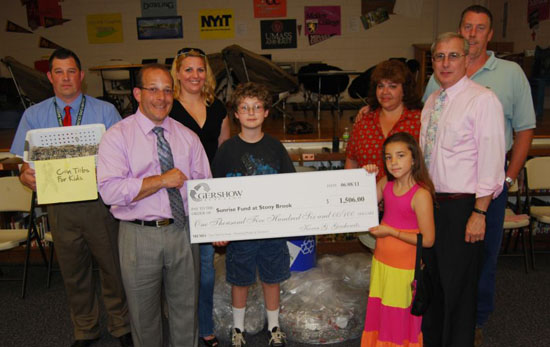 Gershow Recycling's Can Tabs for Kids Program Raises $1,506 for Sunrise Fund at Stony Brook