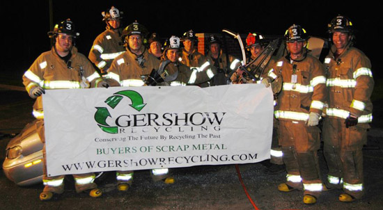 Gershow Recycling Donates Two Vehicles to Terryville FD for Extrication Exercise