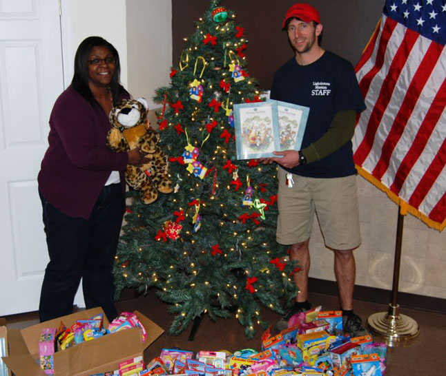 Gershow Recycling Donates $1,000 towards Toy Drive for Lighthouse Mission's Christmas Gift-Giving Program