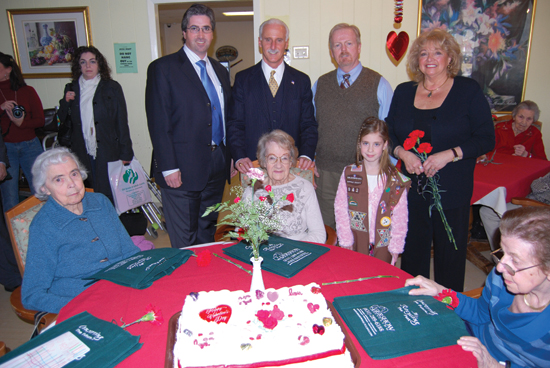 Gershow Recycling Joins Girl Scouts and Elected Officials in Making a Happier Valentine's Day for Assisted Living Facility Residents