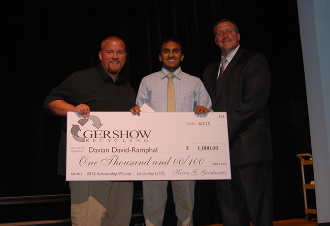 , Gershow Recycling Grants Environmental Conservation Scholarships to Local High School Students