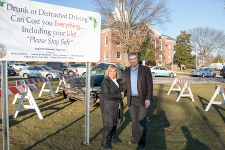 Gershow Recycling Donates Wrecked Vehicle to Town of Islip for Anti-Drunk and Distracted Driving Campaign