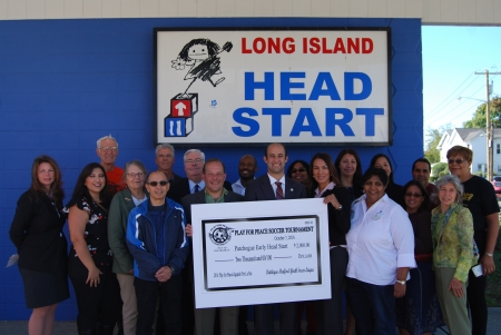 Gershow Joins Legislator Calarco and Play for Peace Sponsors in Presenting $2,000 Check to Long Island Head Start in Patchogue