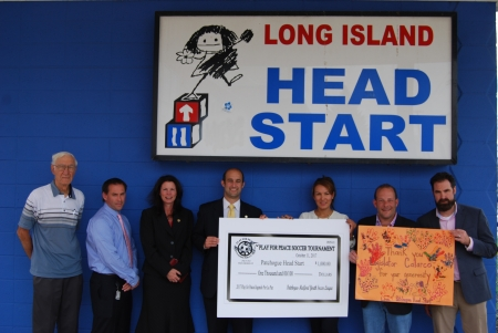Play for Peace Sponsors Present Long Island Head Start in Patchogue with $1,000 to Use in Support of Educational Services