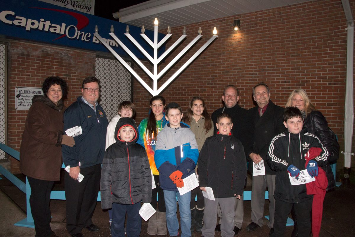 Gershow Recycling Donates New Menorah to the Patchogue Community