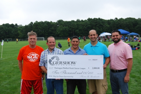 Gershow Recycling Donates $2,000 for 9th Annual Play for Peace Soccer Tournament