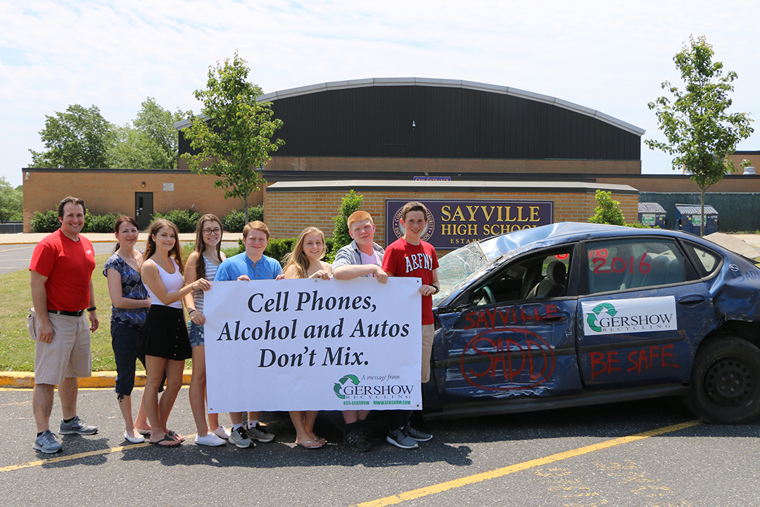 Gershow Recycling Helps Sayville High School SADD Teach Students about the Dangers of Drunk or Distracted Driving