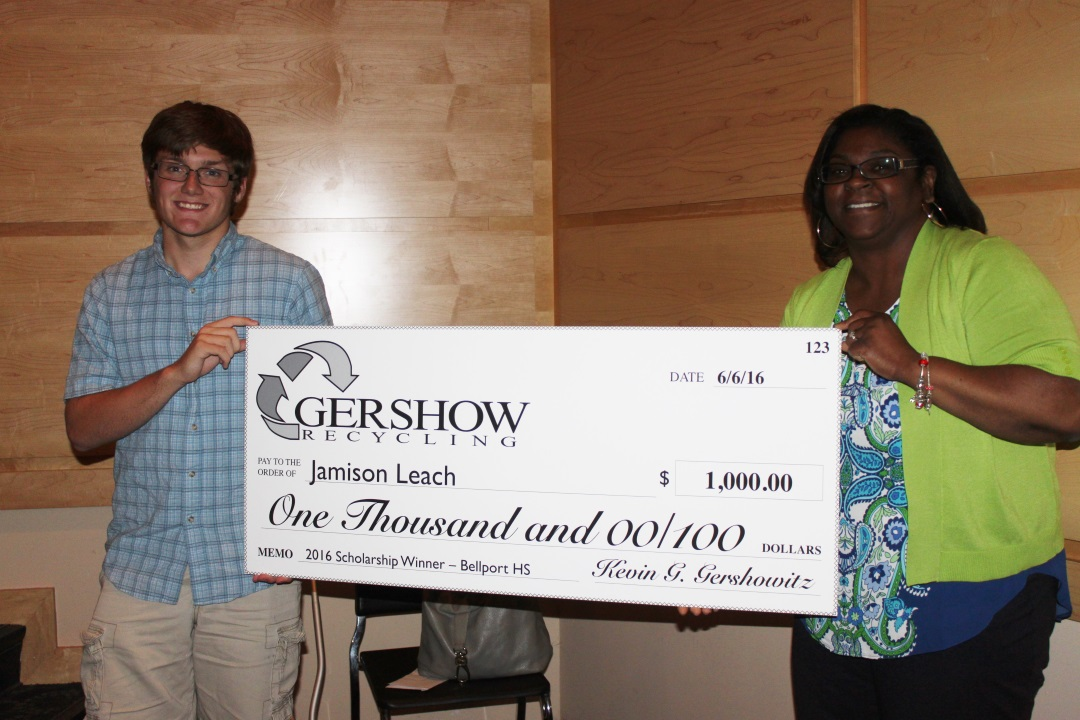 , Gershow Recycling Grants Environmental Conservation Scholarships Long Island High School Students